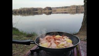 Прудовая рыбалка и отличный завтрак)
