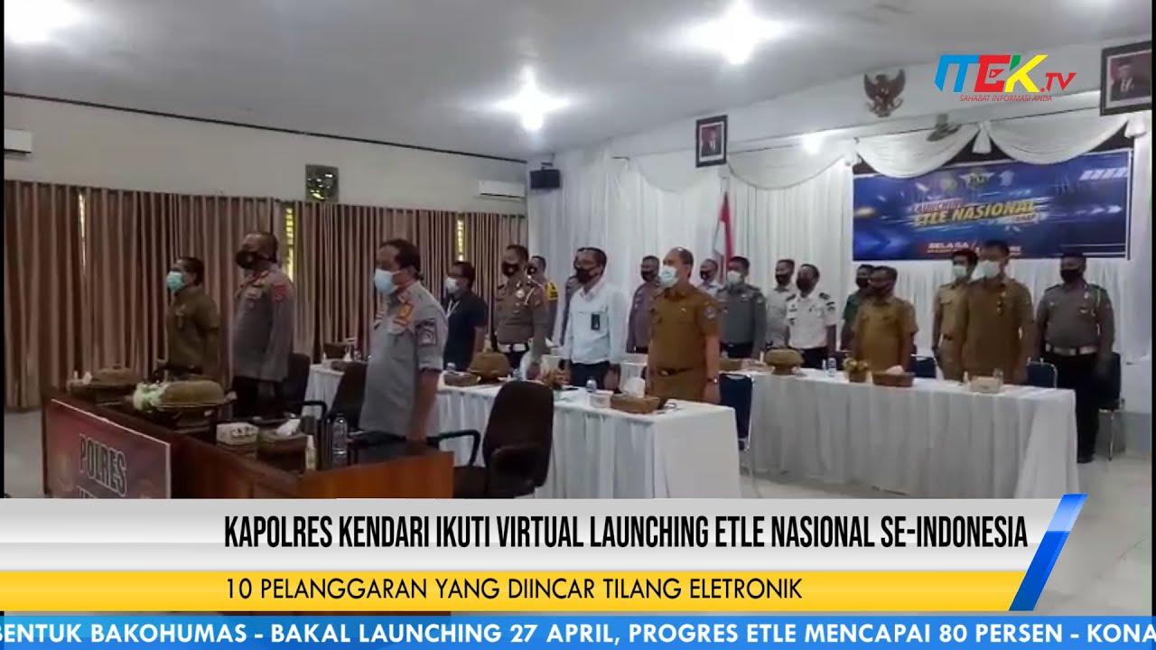 Kapolres Kendari Ikuti Virtual Launching ETLE Nasional Se Indonesia