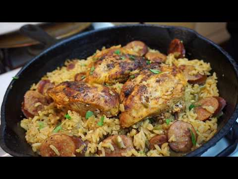 One Skillet Meals: Cajun Chicken And Dirty Rice | Light ASMR