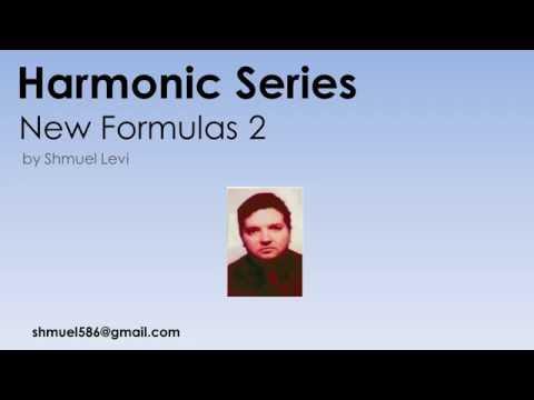 Harmonic Series - New Formulas 2