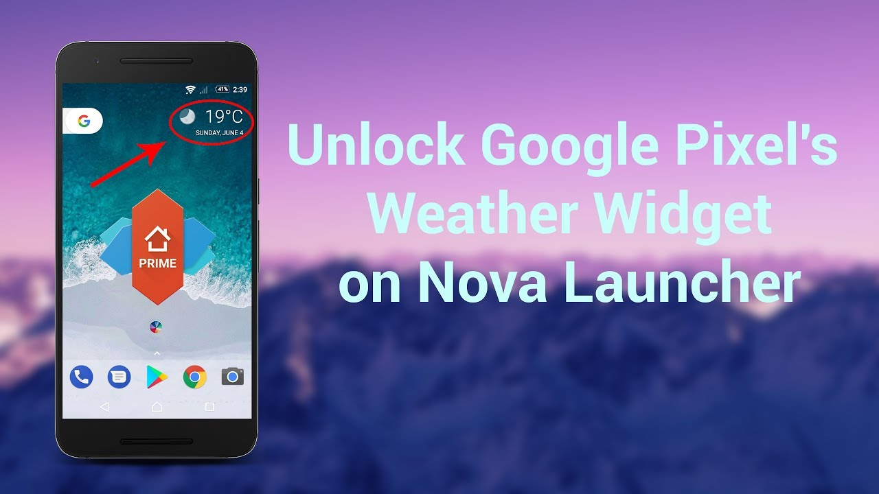 Unlock Google Pixel's Weather Widget on Nova Launcher