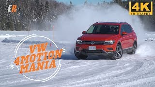 4K - Testing All VW's 4Motion on Snow and Ice