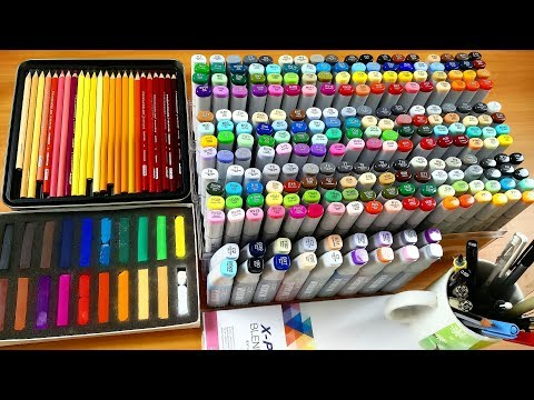 All My Art Supplies - How and Why i use them | Aayush Pencilart