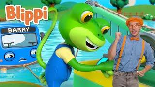 Gecko to the Rescue Song | Songs For Kids | Blippi & @Gecko's Garage - Trucks For Children