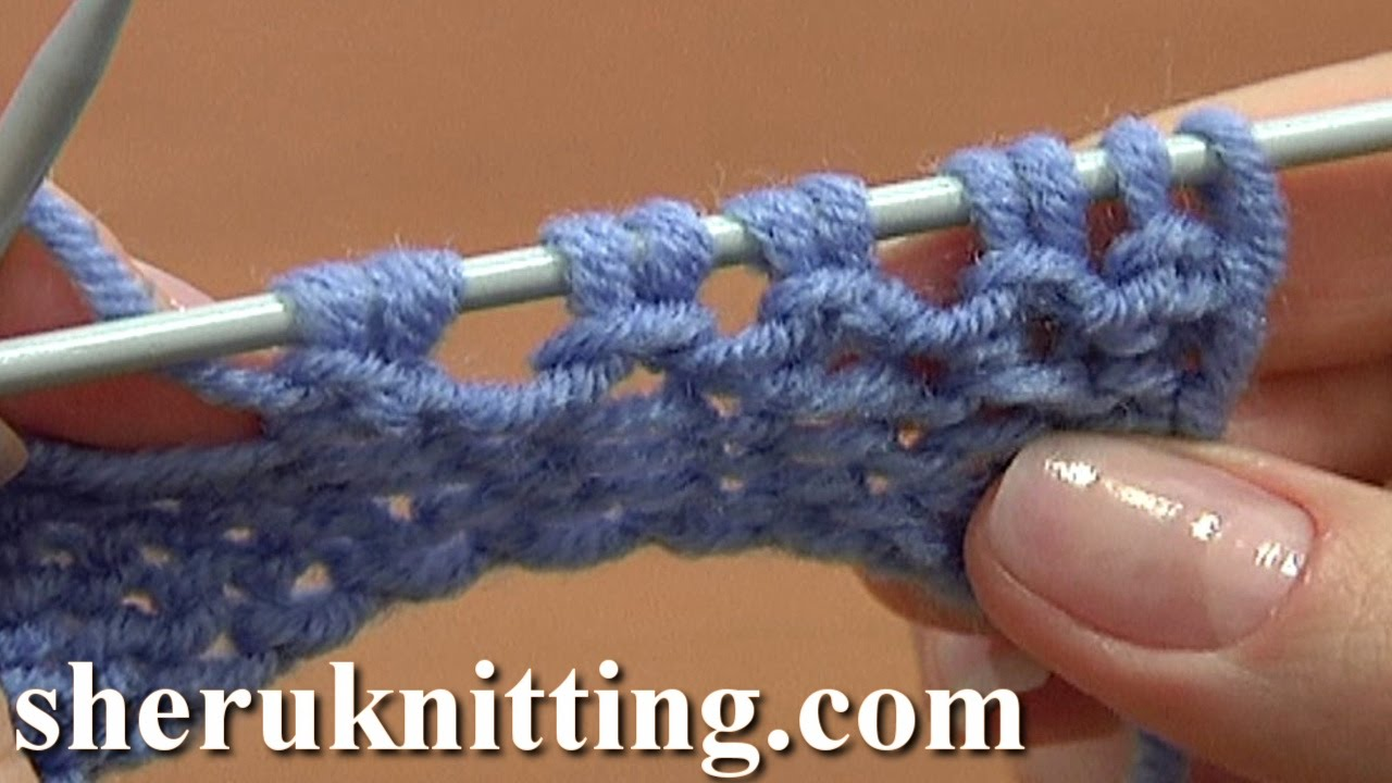 Knitting Increases At End Of Row : Increase stitches purl stitch on row below tutorial