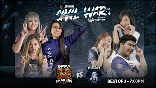 Oppa Shakers vs Solid Pushers Game 1 (BO3) | Lupon Civil War Playoffs