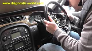 Jaguar X Type Steering Wheel Removal Guide - Plus Airbag Remove