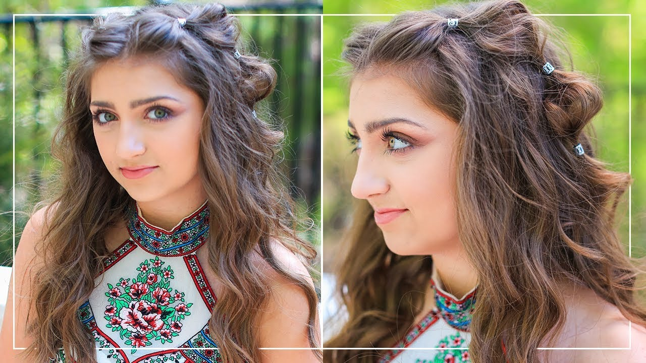 Hair Style Videos Youtube: How To Create Boho Bubble Braids