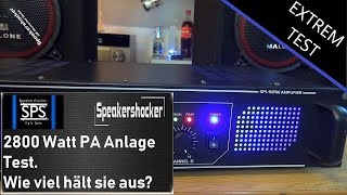 2800 Watt geilste PA Anlage Skytec PA Endstufe überlastung Abo Spezial