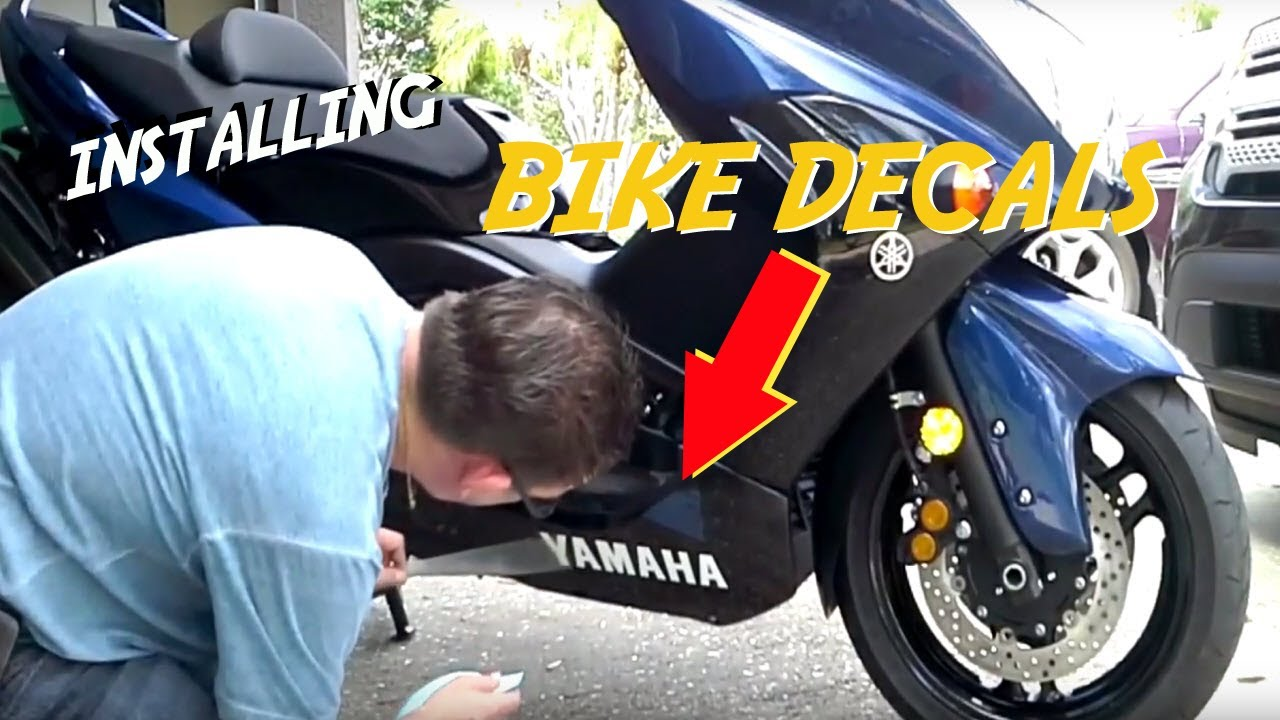 Installing decals on a motorcycle or scooter