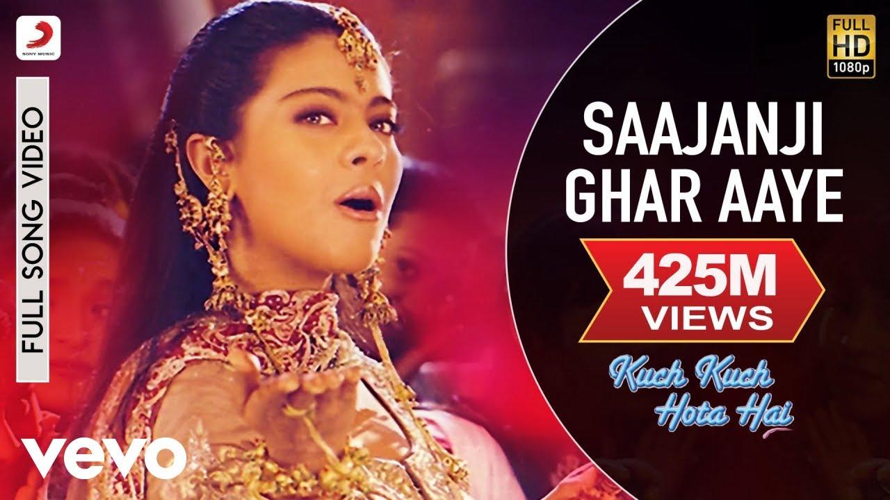 Download Saajanji Ghar Aaye Full Video - Kuch Kuch Hota Hai Shah Rukh Khan,Kajol Alka Yagnik