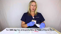 Ampicillin Preparation | NICU-SJMC