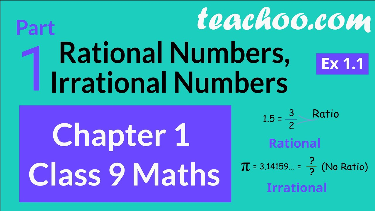 Chapter 1 Class 9 Maths Part 1 Rational Numbers Irrational Numbers Exercise 1 1 Youtube