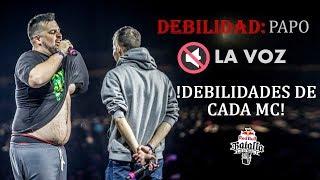 !TALON DE AQUILES DE CADA MC! - DEBILIDADES / DEAN RAP