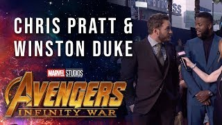 Chris Pratt and Winston Duke Live at the Avengers: Infinity War Premiere