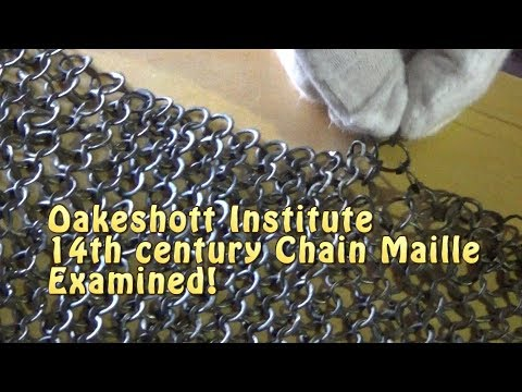 14th Century Chain Maille Examined from Ewart Oakeshott Collection!