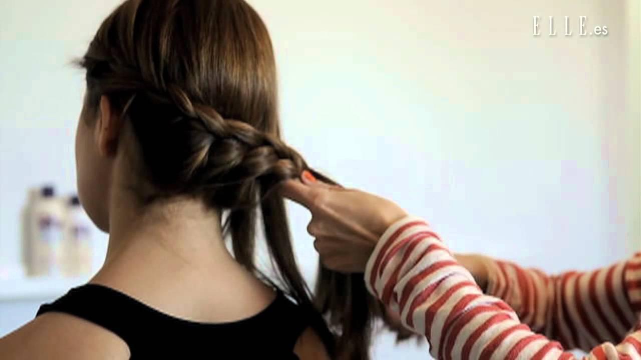 Trenzas para cabello recogido paso a paso