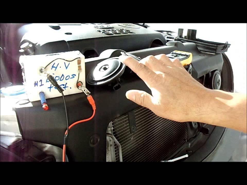 Como Probar Y Cambiar La Bocina De Claxon De Un Automovil