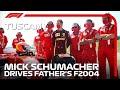 Mick Schumacher Drives The Ferrari F2004 Around Mugello