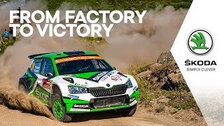 Journey of the New FABIA R5 evo to Victorious Rally Portugal