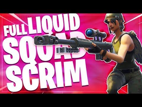 Liquid Squad Scrim! | Fortnite Battle Royale