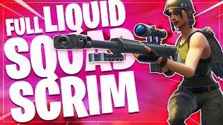 Liquid Squad Scrim!   Fortnite Battle Royale