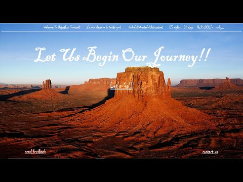 Simple Tourism Website Using Html