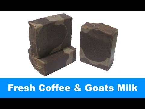 Fresh Coffee & Goats Milk, Cold Process Soap Making and Cutting