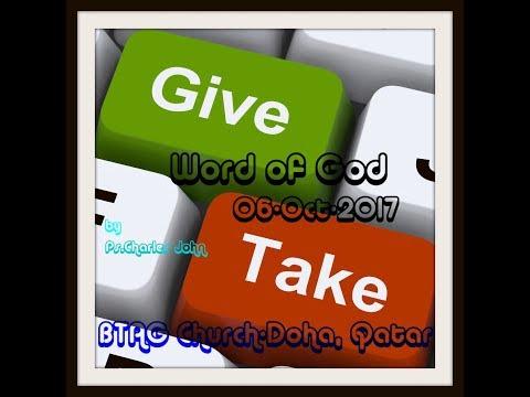 Word of God By.Ps.Charles John | BTAG Church-Doha, Qatar | 06-10-2017