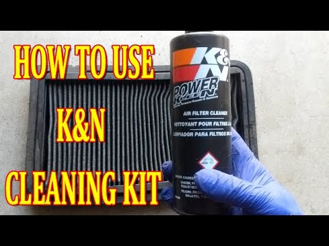 HOW TO CLEAN K&N AIR FILTER USING RECHARGE KIT ( CLEANING & RECHARGING) REUSABLE AIR FILTER