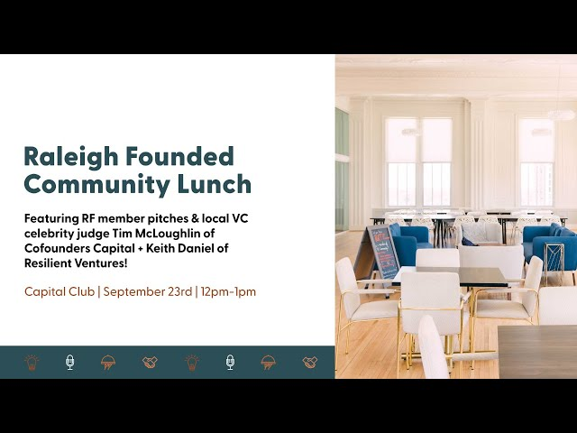 LIVE at Raleigh Founded | Pitch Please!, hosted by Cofounders Capital's Tim McLoughlin