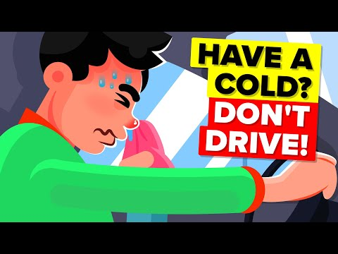 Why You Should Never Drive If You Have a Cold