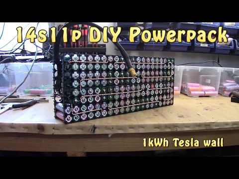 Build 48V 18650 Tesla style pack 14s11p