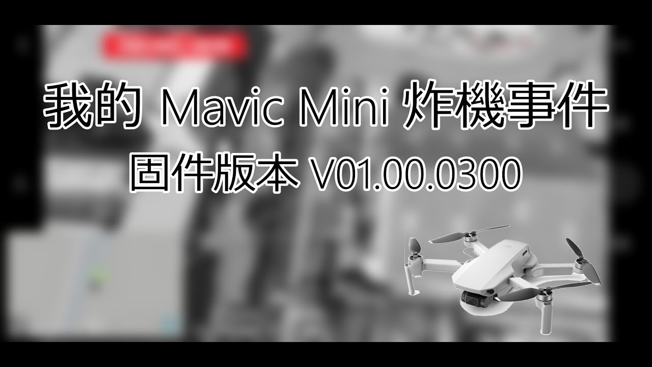 【TonyY】我的Mavic Mini炸機事件 最新固件V01.00.0300 | 20191208