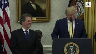 Trump presents the Presidential Medal of Freedom to Arthur Laffer | ABC News