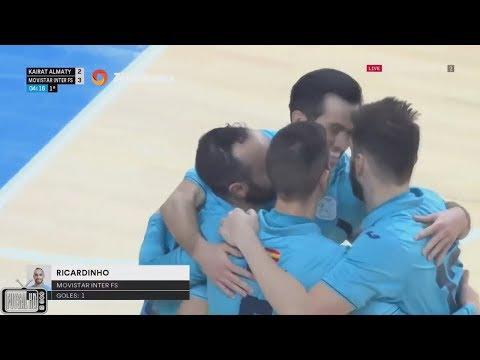 Gols Movistar Inter 5 x 3 Kairat Futsal - 3ª Rodada UEFA Futsal Cup 2017/2018 (26/11/2017)