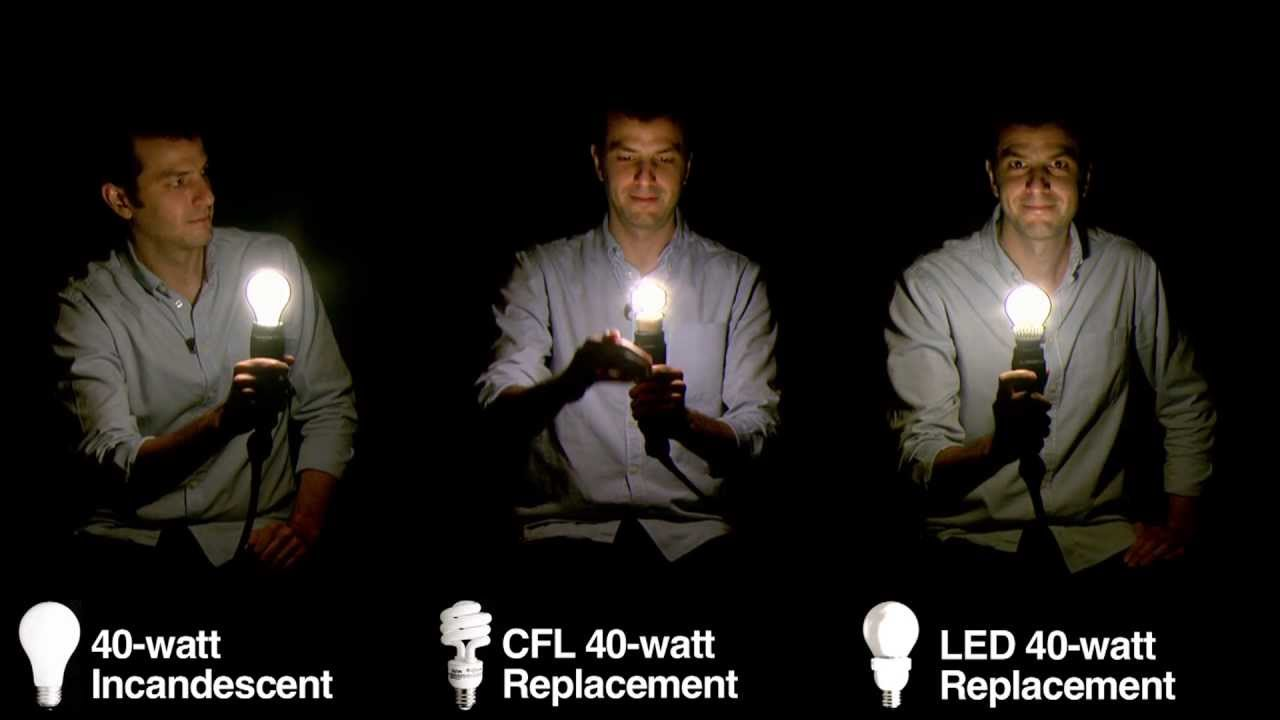 Light Bulb Lineup: Comparing Incandescent Bulbs With CFLs And LEDs   YouTube
