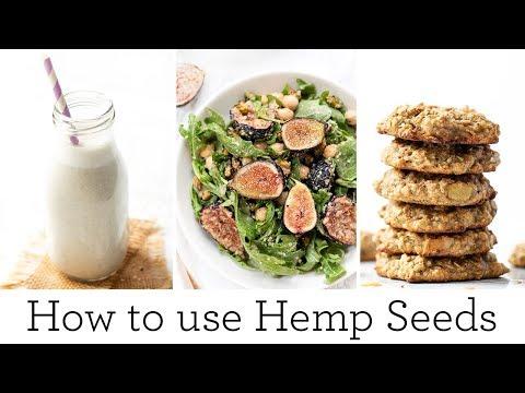 HOW TO USE HEMP SEEDS | 3 Healthy Recipes With Hemp Seeds
