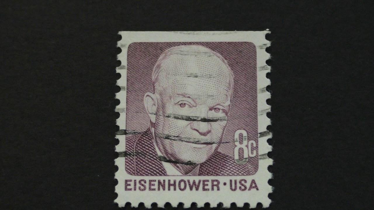 Postage Stamp USA Eisenhower Price 8 Cents