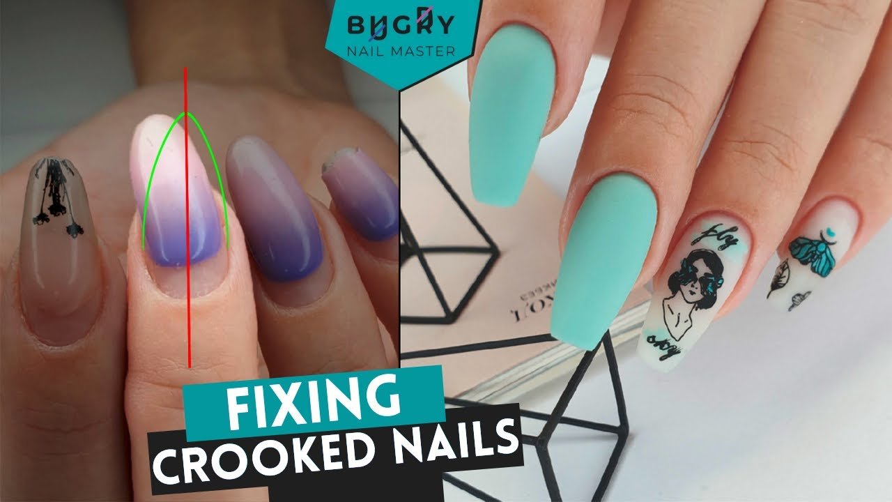 Straightening Crooked Nails With Polygel + Summer Manicure W/ Stamping