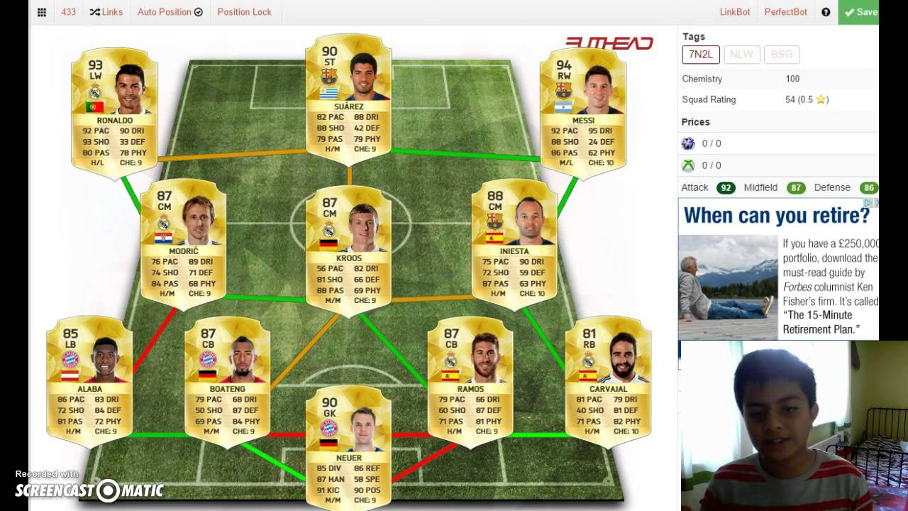 Highest Rated Fifa 16 Squad! (With 100 Chemistry)! - YouTube