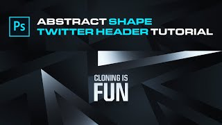 Abstract Shape Twitter Header Tutorial  Easy  | Free Psd | Photoshop Cc | Mariotgraphics