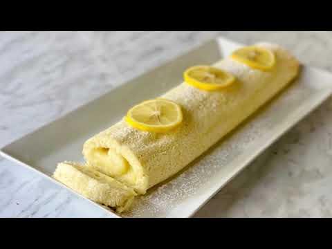 gÂteau-roulÉ-À-la-crÈme-au-citron-🍋-trÈs-facile.-deli-cuisine
