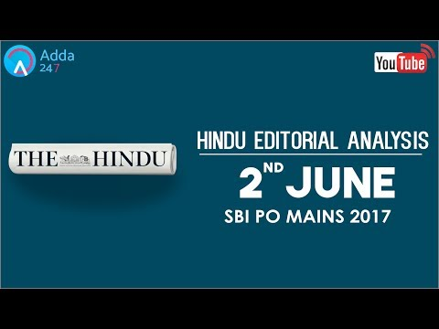 The Hindu Editorial Analysis - 2nd June 2017 - SBI PO - Online Coaching for SBI, IBPS & Bank PO