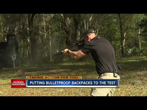 Bulletproof Backpack Sales Spike, News Org. Tests One vs. AR-15 Rounds