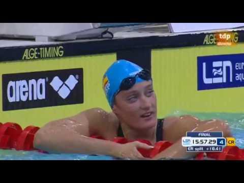 Final 1500m Libres Femenino (Mireia Belmonte (Oro)) (23-08-2014)