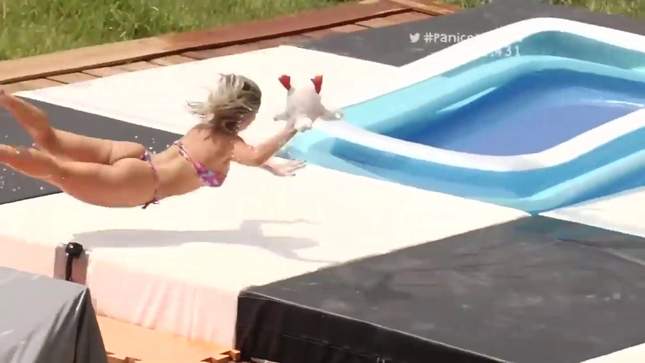 (NEWish) Brazilian Girls Playing Slip N Slide Basketball