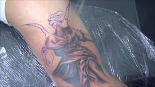 Video Angel tattoo - time lapse download MP3, 3GP, MP4, WEBM, AVI, FLV Mei 2018