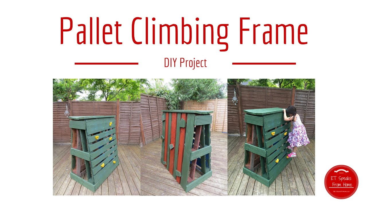 How to make Pallet Climbing Frame / Rock Climbing with ...