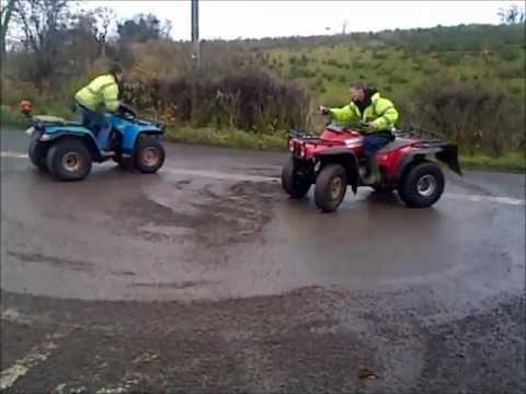 quads diffing, honda big red, yamaha moto 4, suzuki ozark